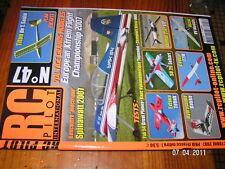 RC PILOT n°47 plan encart Titou Yak 54 Hydrasnake Ascot