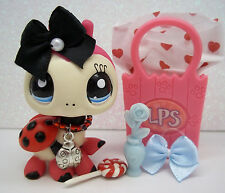 LITTLEST PET SHOP CUTE PINK BLACK RED LADYBUG MOM #1383 BOW FLOWER ACCESSORIES