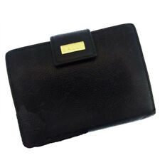 Bally Wallet Purse Bifold Logo Black Woman Authentic Used M628