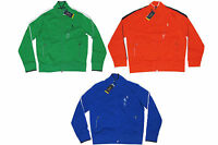 Polo Ralph Lauren Mens Zip Mock Neck Blue Orange Green Pony Logo Track Jacket