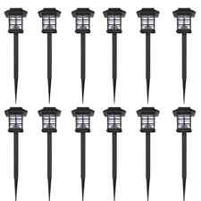 vidaXL 12x Lámparas Estacas Solares LED de Jardín Luces de Suelo de Exterior