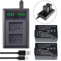 2X Battery for Leica BP-DC9 and Leica V-Lux 2 Leica V-Lux 3 +LED USB Charger
