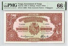Tonga 1966 P-9e PMG Gem UNC 66 EPQ 4/- Shillings