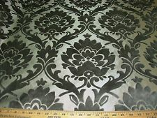 "~30 YDS~CUT VELVET~""VICTORIAN FLEUR DE LIS"" TAUPE~ UPHOLSTERY FABRIC FOR LESS~"
