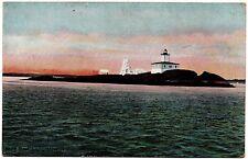 Avery Rock Light Machias Bay Maine Vintage Postcard H.C. Leighton Germany 28060