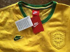 vtg NIKE X BRAZIL Futbol Soccer Jersey Men's Medium - New with Tags!