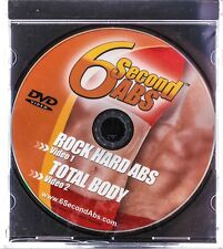 "6 Second ABS Workout DVD ""Rock Hard Abs"" & ""Total Body"" Health Sporting Goods"