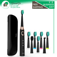Sonic Electric Toothbrush with 8 DuPont Brush Heads & Travel Case, Dentist Recom