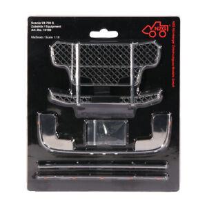 Zubehör Set Bullfänger Rammschutz Gitter Optik für Scania V8 730 1:18 NZG 10192