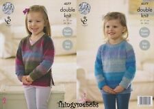 KING COLE 4577 GIRLS TOPS/JUMPERS/SWEATERS ORIGINAL KNITTING PATTERN - SPRITE