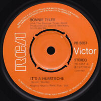 "Bonnie Tyler It's A Heartache Vinyl 7"" Single UK PB 5057 UK 1977"
