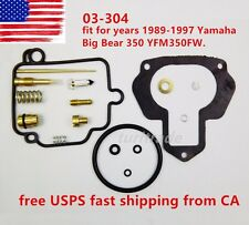 NEW Yamaha Big Bear 350 YFM350FW Carburetor 89-97 Carb Rebuild Kit Repair US