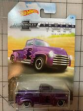 Hot Wheels Mattel 1952 Custom Chevy Pickup 100 Years Trucks 1:64 Purple Diecast