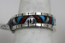 Inlay Size 6-1/2 Sterling Phyllis Beyuka Zuni Indian Ring 50% Off Multistone