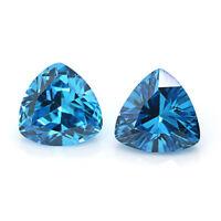 80001527-A99 10X9-9X8MM  Aquamarine Gemstone Grade A Diagonal-Drill Square Cube Loose Beads 15.5 inch Full Strand