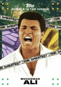 2021 TOPPS MUHAMMAD ALI RUMBLE JUNGLE CARD by TYSON BECK #TB-7 THE GREATEST