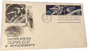 USA 1967 / Space Achievements / 5c First Space Walk / Art Craft FDC