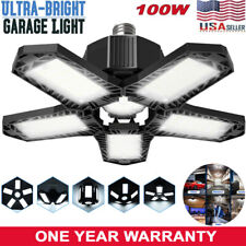 100W 10000LM Deformable LED Garage Light Super Bright Shop Ceiling Lights Bulbs