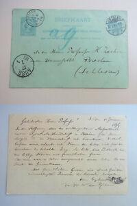 Postcard Leiden 1894: W. N. Of Rieu An Zacher (Wroclaw), Lysistrate-Handschrift
