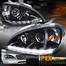 SHINY BLACK 2002-2005 Mercedes Benz W163 ML350 ML500 Projector LED Headlights