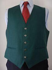 Vintage Massimo Prosperi Italy Mens Green Wool Waistcoat Gilet Vest Size UK 44
