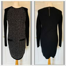 Black M&S Autograph With Wool Jumper Dress Size 10 (5933)