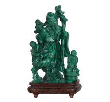 China 20. Jh. Malachit Gruppe - A Chinese malachite Figure Of Shoulao Chinois
