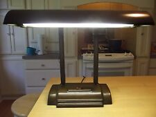 INDUSTRIAL DESK LAMP double goose neck antique art deco VINTAGE OFFICE