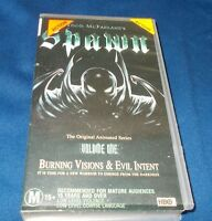 SPAWN THE SERIES VOLUME 1 VHS PAL BURNING VISIONS AND EVIL INTENT