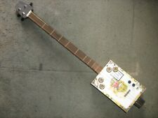 More details for used cigar box fitted with new parts to make cigar box guitar.