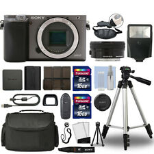 Sony Alpha a6000 Mirrorless Digital Camera & 16-50mm Lens Graphite + 32GB Bundle