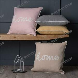 Home Linen Feel 18 inch Piped Cushion Cover   Blush Pink - Grey - Yellow - Cream