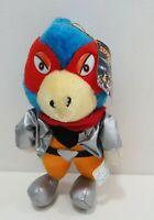 "Rare Starfox Falco TAKARA 1993 Plush 8"" Stuffed TAG Toy Doll Japan"