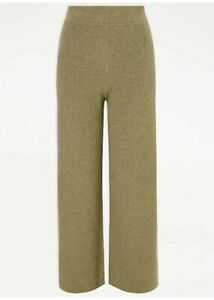 George @ Asda  Khaki Knitted High Waist Warm Loose Leisure Pants Size L BNWT