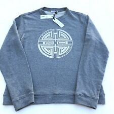 Versace Collection Rubber Circle Greek Logo Gray Sweatshirt Sweater Men XXL RARE