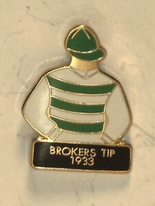 1933 - BROKERS TIP - Kentucky Derby Jockey Silks Pin
