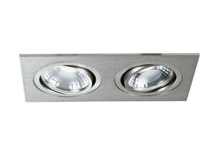 Spotlights Recessed Rectangular To LED Modern Adjustable Silver