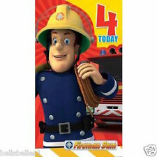 "OFFICIAL FIREMAN SAM ""4TH"" BIRTHDAY CARD *** FREE 1ST CLASS P&P***"