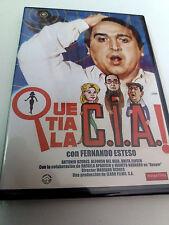 """DVD """"QUE TIA LA C.I.A.!"""" COMO NUEVO MARIANO OZORES FERNANDO ESTESO ALFONSO DEL R"""