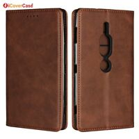 For Sony Xperia XZ2 Premium Luxury Magnetic Leather Wallet Flip Case Cover