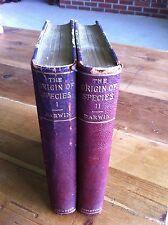 1897 ORIGIN OF SPECIES 2 Volumes CHARLES DARWIN RARE D. Appleton