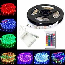 5V USB 5M LED Strip Lights TV Back RGB Colour Changing +Remote Control UK