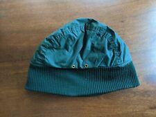 Vintage Eddie  Bauer Goose Down Green Hat Cap Beanie Hunting Winter VTG Size L