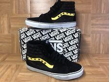 RARE🔥 VANS x Supreme Sk8-Hi SL Black White Maize Yellow Stars Men's Shoes Sz 13