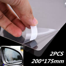 2x Hydrophobic Clear Car Glass Film Side View Mirror Anti fog Scratch 20x17.5cm