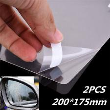 2x Hydrophobic Clear Car Glass Film Side View Mirror Anti fog Scratch 20x17.5cm
