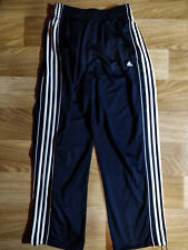 Adidas Mens Tracksuit Pants Trousers Training Navy Blue White Stripes Baggy