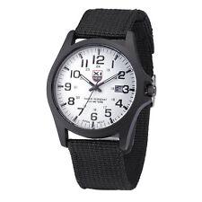 Mens Military Sports Watches Date Stainless Steel Analog Army Quartz Wrist Zccj