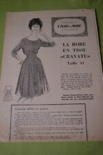 """ ECHO DE LA MODE "" PATRON N°20// ROBE EN TISSU ""CRAVATE"" T 44"