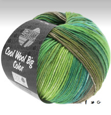 Cool Wool Big Color Lana Grossa 100g Fb. 4002 Hell-/Jade-/Maigrün/Graubraun